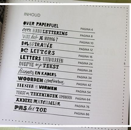 Handlettering boek - slakkenpost.nl