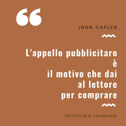 Cos'è l'appello pubblicitario - marketing & leadership
