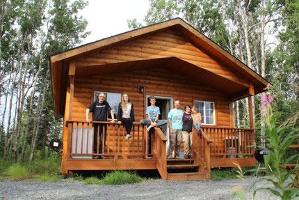 Notre sympathique cabane à Kasilof