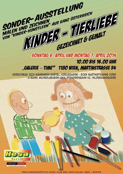 Galerie Time Kinder-Tierliebe gezeichnet und Gemal Erich Koller Kindermalwettbewerb Günther Wachtl Friedrich Fallmann  Kindermalerei