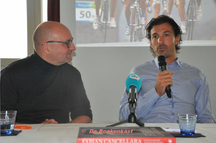 Guy Van Den Langenbergh in gesprek met Fabian Cancellara