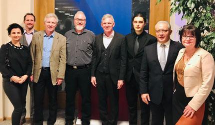 Die Vertreter des Triathlonverbandes anlässlich der Nacht des Sports 2019