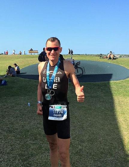 Daniel Gassner war mit seinem Rennen hoch zufrieden