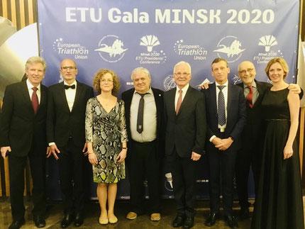 Die Vertreter der Europäischen Kleinstaaten anlässlich der ETU Gala in Minsk