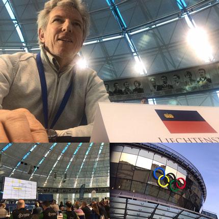 Die Präsidentenkonferenz fand im Gebäudes des Weissrussischen NOK statt