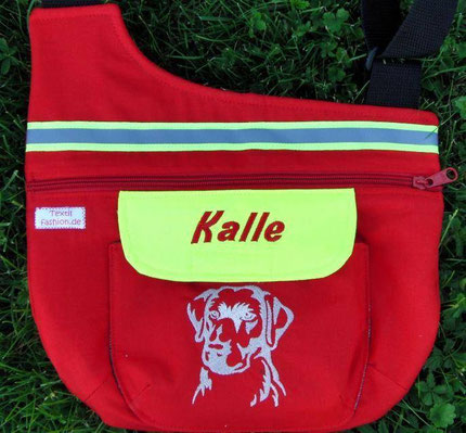 Tasche DLRG Tuch Rettungshund bestickt Gassitasche
