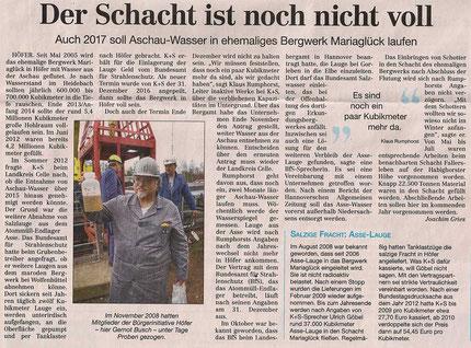 Quelle: Cellesche Zeitung, 29.12.2016