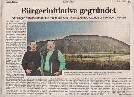 Quelle: Cellesche Zeitung, 19.03.2016