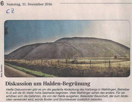 Quelle: Cellesche Zeitung, 31.12.2016 (Jahresrückblick 2016)