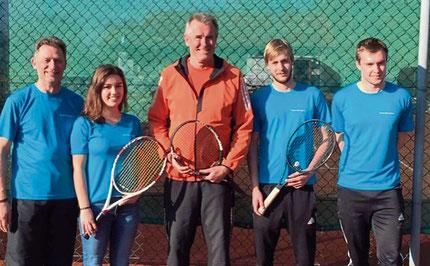 Die Tennistrainer des FCE freuen sich schon auf den Saisonbeginn.