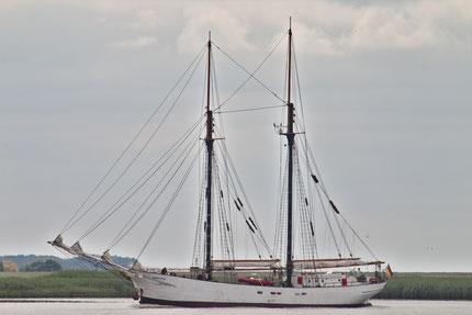 Das Segelschiff Avontuur. Von Jacek Rużyczka - Eigenes Werk, CC BY-SA 4.0, https://commons.wikimedia.org/w/index.php?curid=61177885