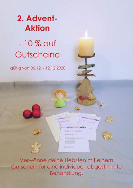 2. Advent-Aktion -10% auf Gutscheine (gültig von 06.12.-12.12.2020)