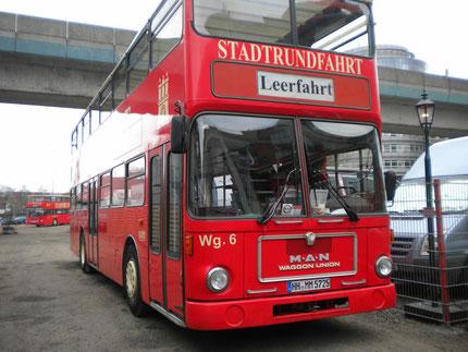 Der Bus für die Stadtrundfahrt