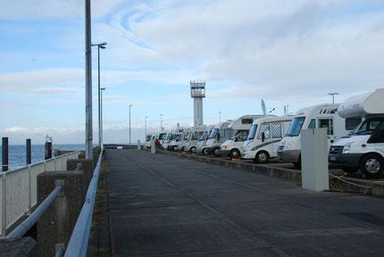 Der Stellplatz am Hafen von Cuxhaven