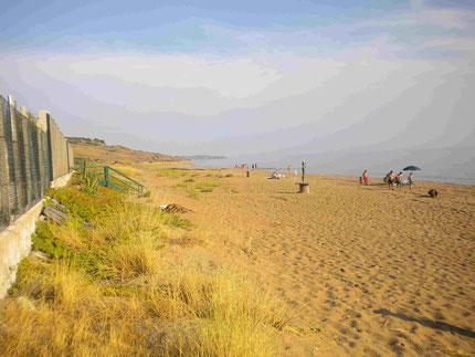 Strand des Campingplatzes bei Menfi