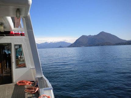 Inselfahrt mit dem Schiff am Lago Maggiore