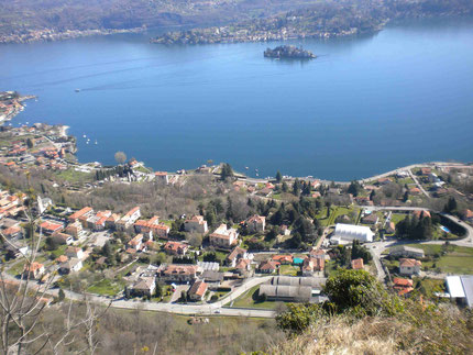 Blick auf die Insel Orta