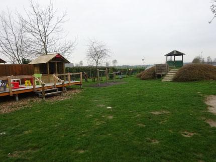 Der jetzige Außenbereich des Kindergartens Mellrich wird zu einer spannenden Erlebniszone