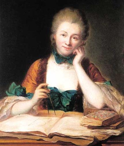 Emilie du Châtelet par Maurice Quentin de la Tour (1704-1788)