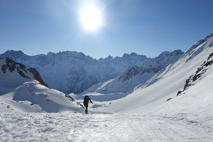 Skitour, Skihochtour, Mont Blanc de Cheilon, Pas de Chèvres, Arolla, Wallis, Schweiz,