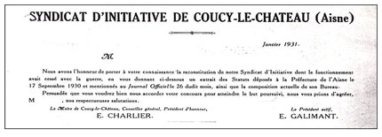 Document de reconstitution du Syndicat d'Initiative