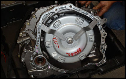 New Jasper transmission installed by CMR Rebuild mechanics