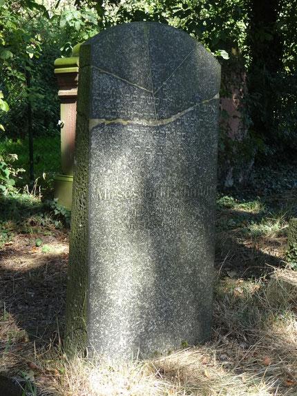 Grabstein von Moses Goldschmidt (Vater von Willi Goldschmidt)