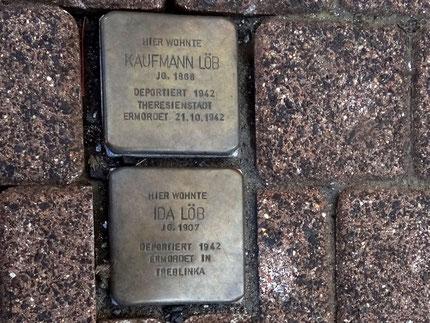Stolperstein für Kaufmann Löb und Ida Löb in Schotten
