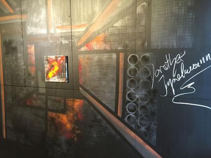 Dorothee Impelmann, Duisburg, Künstler, Galerie, Kunstraum, tOG, take OFF GALLERY, Düsseldorf, Ausstellung, Eingetaucht, Industrie-Malerei, abstrakt, gegenständlich
