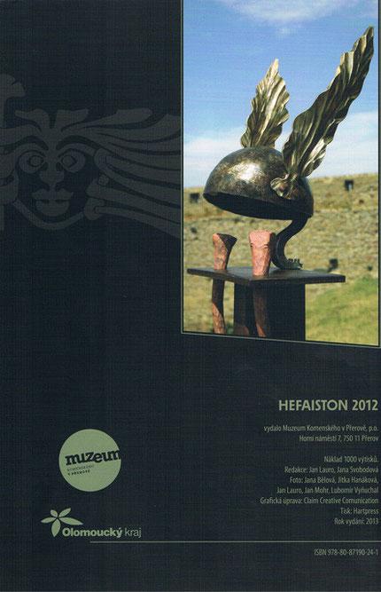 """Metallobjekt """"Helmet"""" von Marc Wehmer Hefaiston 2012"""