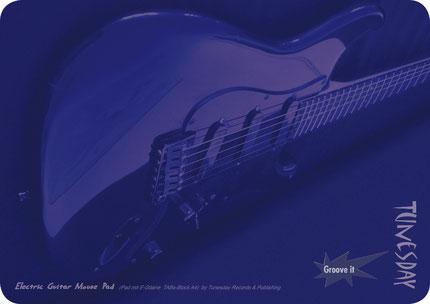 großes Mouse Pad mit E-Gitarre Motiv (DIN A4 quer), abgerundete Ecken - im Bundle mit Tabulatur-Notizblock erhältlich!