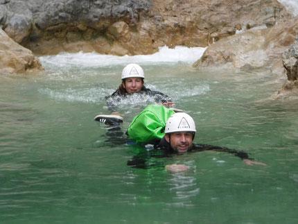 canyoning sur briançon dans la vallée de serre chevalier