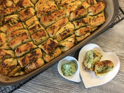 Faltenbrot gebacken in der Ofenhexe von Pampered Chef