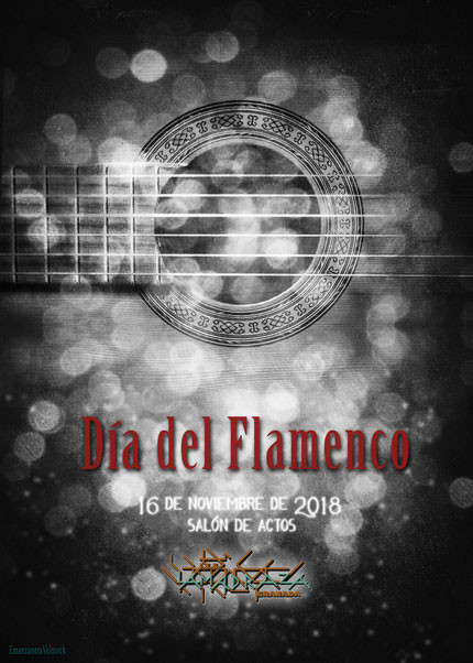 Flamenco, cartel, poster, guitarra, Día del Flamenco