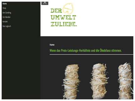 www-zündling.de – Bioanzünder – Handarbeit aus der Eifel – Direkt vom Hersteller – Mayko-Feuer