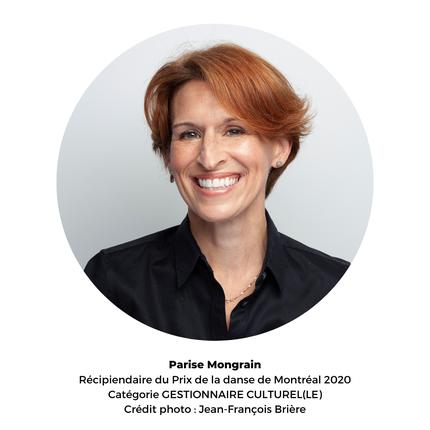 Parise Mongrain - récipiendaire du Prix de la danse de Montréal 2020 - gestionnaire culturelle