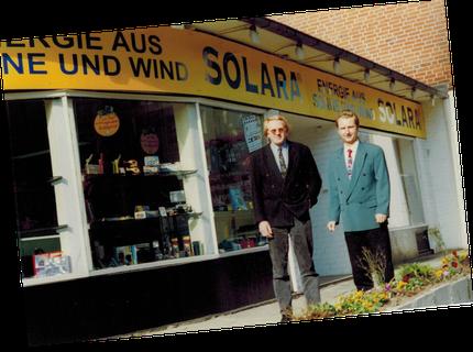 Gründer und Geschäftsführere der SOLARA - Energie aus Sonne und Wind - Hans Jacobs und Thomas Rudolph