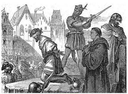 Hinrichtung des Bürgermeisters  Konrad Vorlauf**