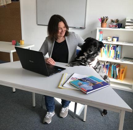 Nachhilfe plus!, Nachhilfe, Wetzlar, Jobs, Team, Hund im Büro, Freude an der Arbeit, Lernen, Schule, Lehrer, Lehrerin