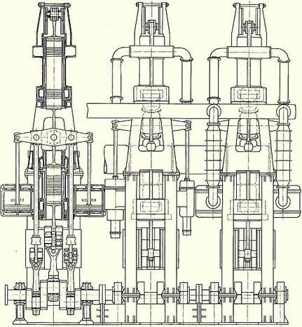 Antrieb der Primus mit Junkers-Gegenkolbenmotoren.
