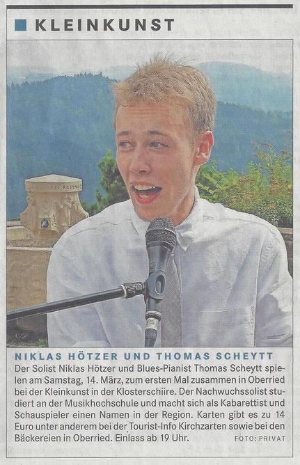 Badische Zeitung Niklas Hötzer und Thomas Scheytt