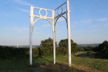 letzte Überreste der Metallkonstruktion des Crystal Palace