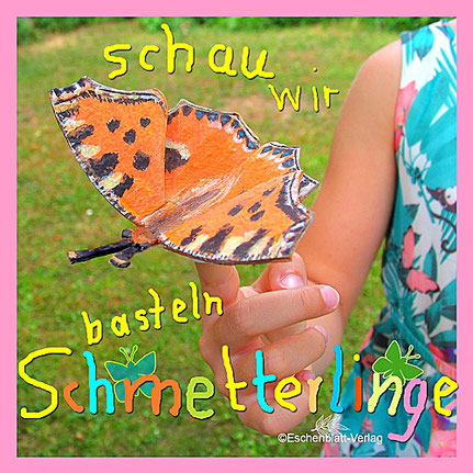 Schmetterling - Großer Fuchs - Kinder - basteln - Eierkarton