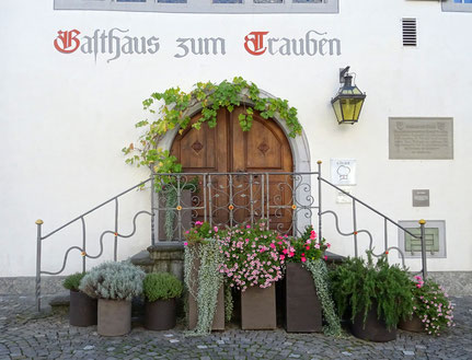 """die """"Freiheitstreppe"""" des Gasthauses Trauben"""