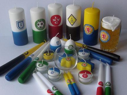 Merchandising-Kerze,Fußballkerze,Fußball-Kerze