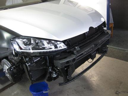 Spenglerarbeit aufgrund Wildschaden an VW Golf R