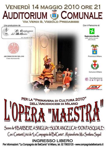 """""""L'OPERA MAESTRA"""" – Vizzolo Predabissi, 14/05/2010"""