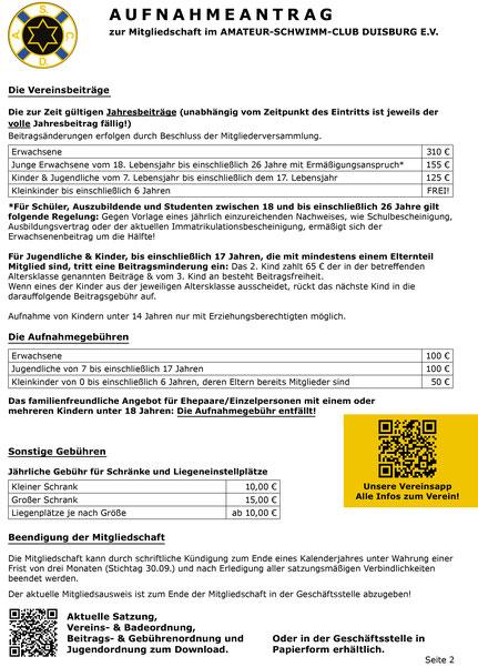 Mitgliedschaft - Amateur-Schwimm-Club Duisburg e.V.