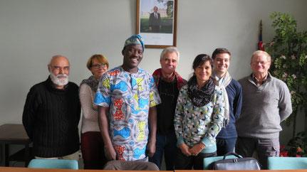 Le CA de Grand-Lieu/Nokoué recevait André Todjé, ami et président de notre association partenaire à Sô-Ava