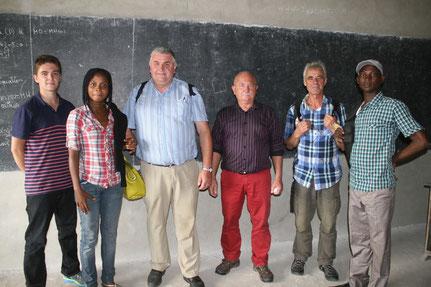 5 août 2015 : La délégation avec Séraphin Tchanpanlinkan et Nadège Detondji